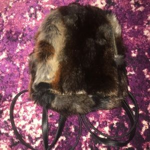 3 am forever mini faux fur backpack